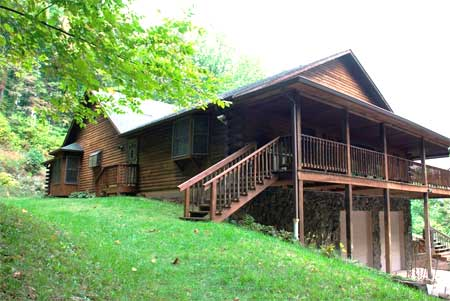 Private Nc Mountain Custom Log Home For Sale By Owner