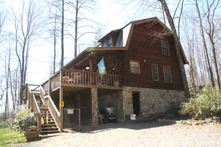 Murphy Nc Mountain Log Home Cabin On 28 Acres For Sale By