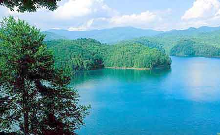Fontana Lake is located in the Appalachian Mountains of Graham County and Swain County in western North Carolina.