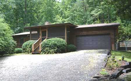 Private mountain log home for sale murphy nc area realtor for Secluded mountain homes for sale