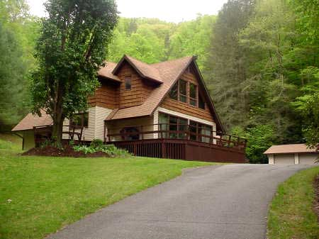 private nc mountain home on 12 acres for sale near