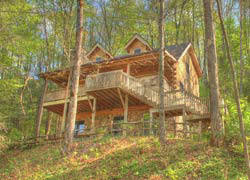 nc vacation log cabin for rent next to Lake Nantahala.