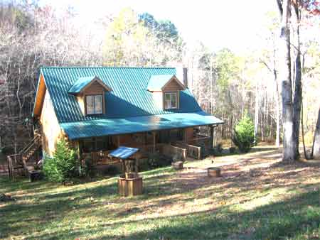 Hiawassee GA Mountain View Log Home for Sale  Towns County