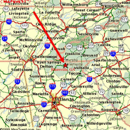 Map Of North Georgia Mountain Towns.North Georgia Mountain Vacation Rentals Cabins Chalets Homes